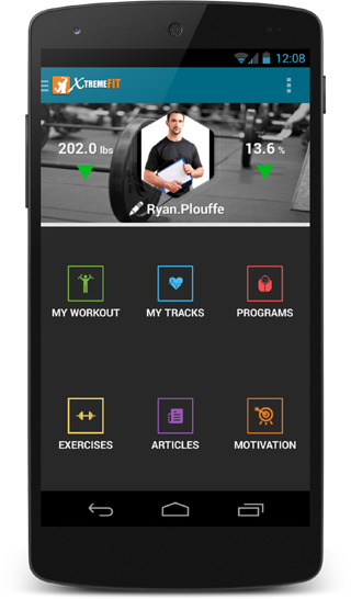 XtremeFit Fitness App